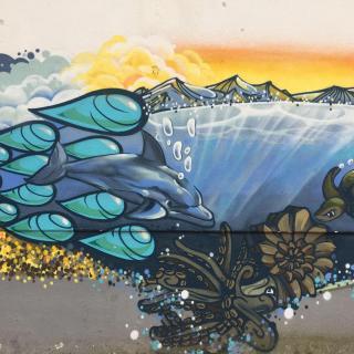 Finanzierung des Schul-Graffitis zur Verschönerung des Schulgebäudes und zum Schutz vor Vandalismus